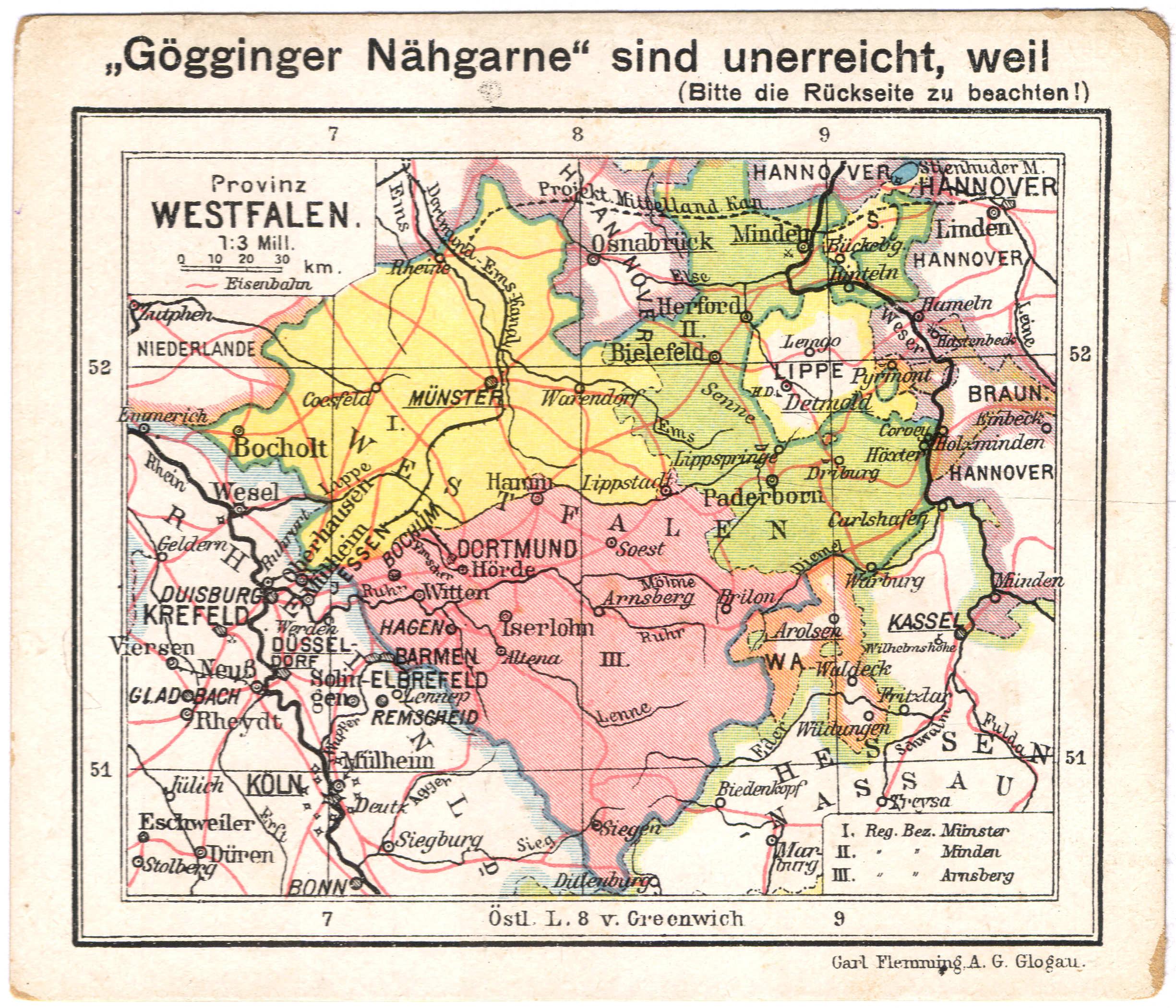 Bildergebnis für Provinz Westfalen Karte