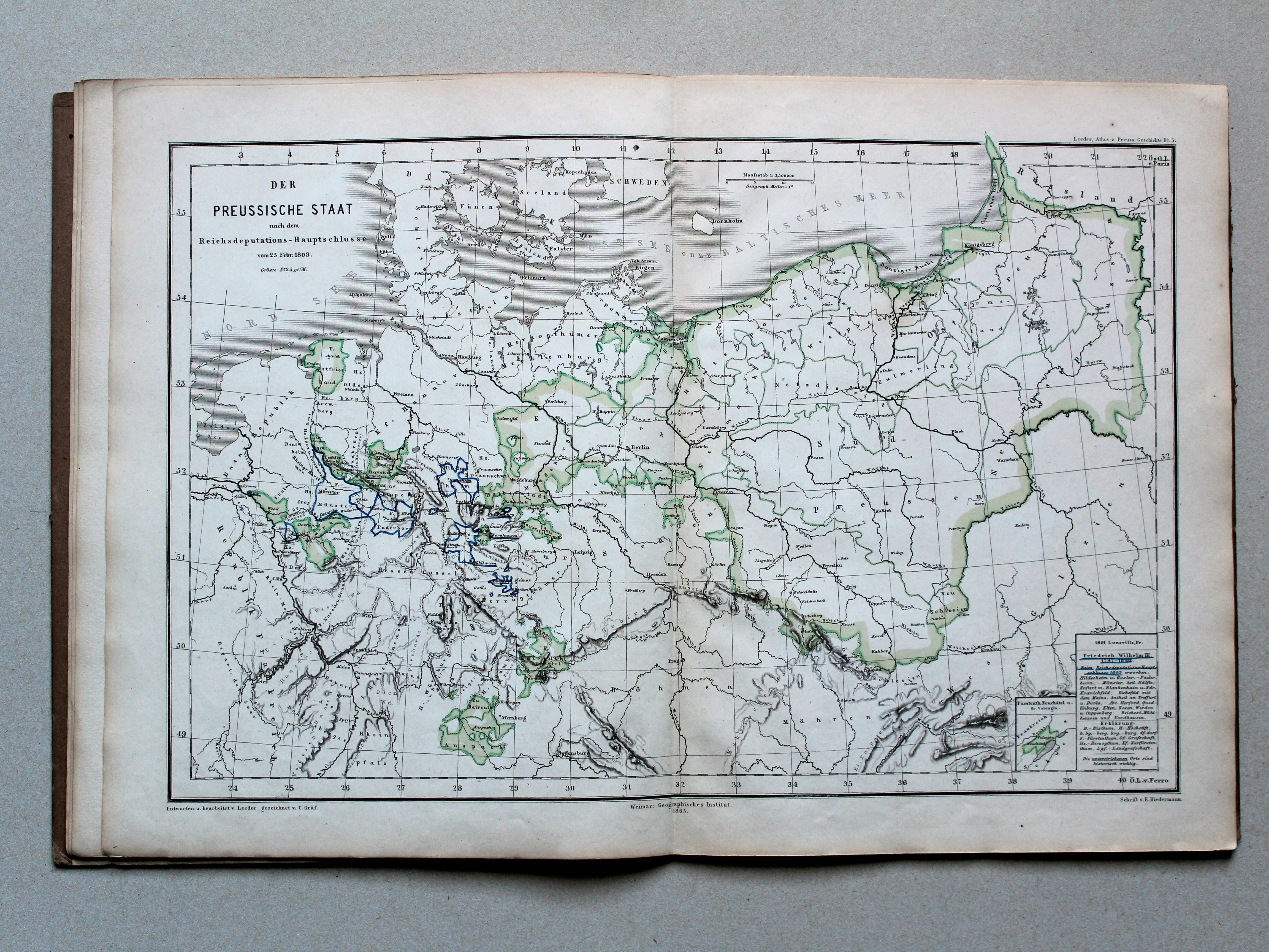 p atlas zur geschichte des preussischen staates 1e druk 1866. Black Bedroom Furniture Sets. Home Design Ideas