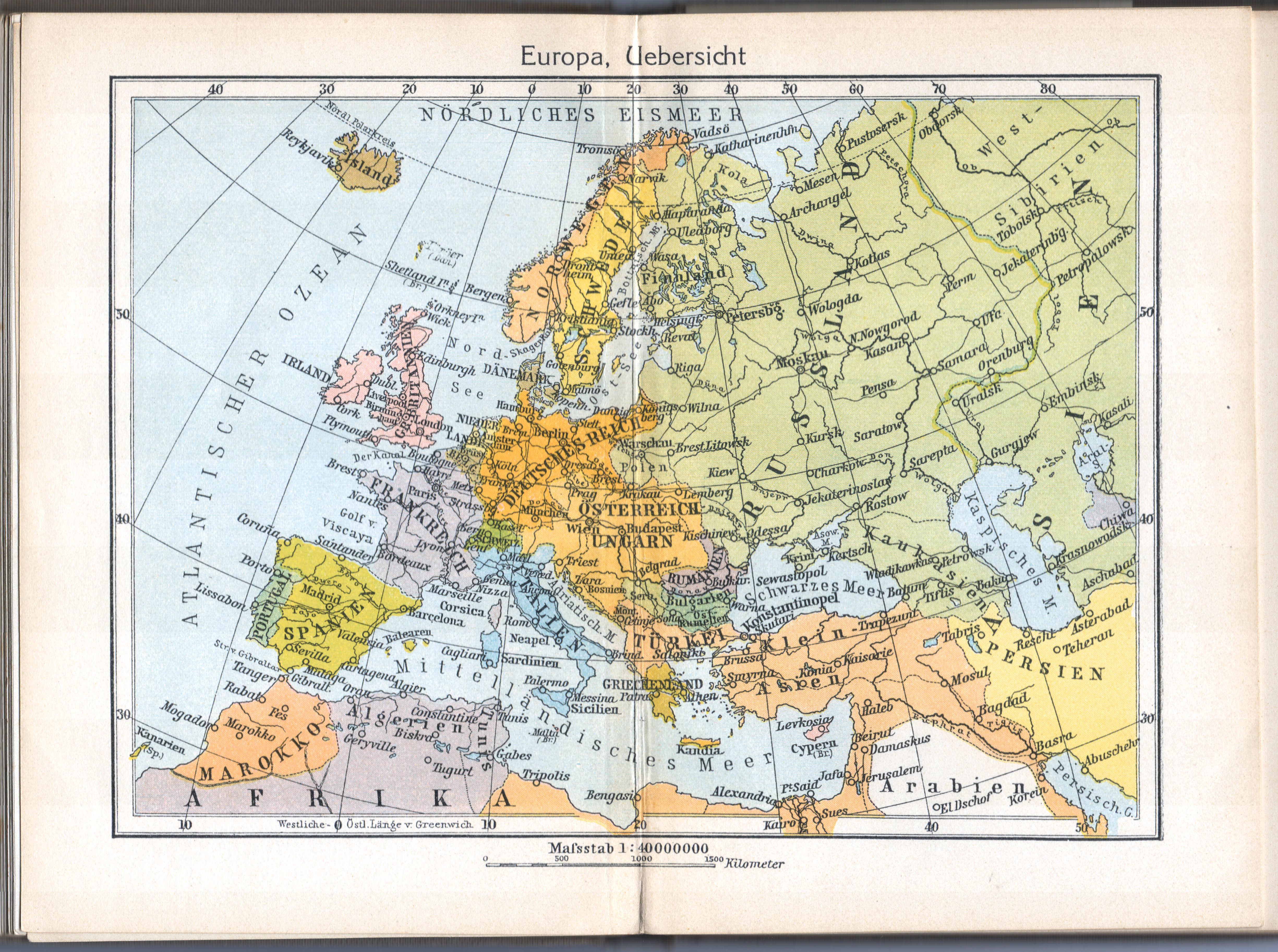 V Singers neuer vollständiger Taschen-Atlas, 1913 en 1905