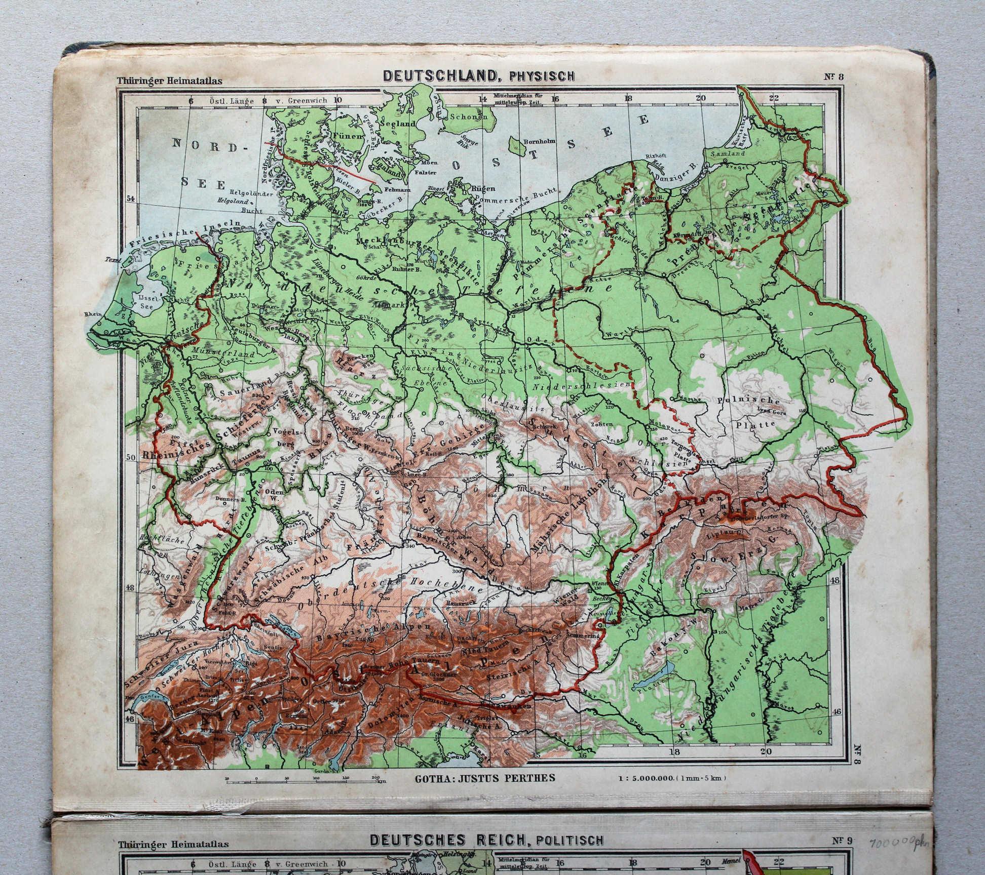physische karte deutschland