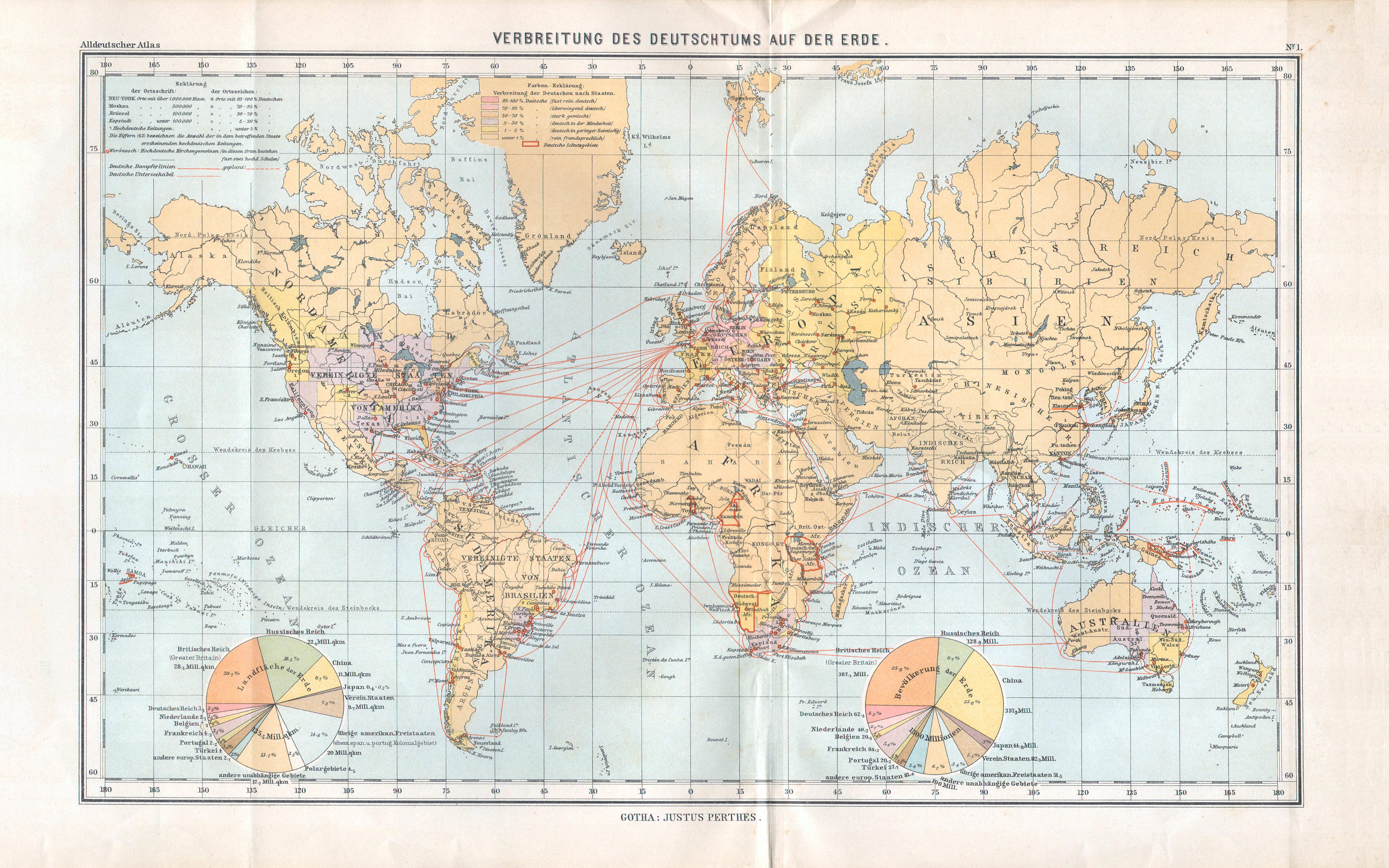 P perthes 39 alldeutscher atlas 2e druk 1903 - De thuisbasis van de wereld chesterfield ...