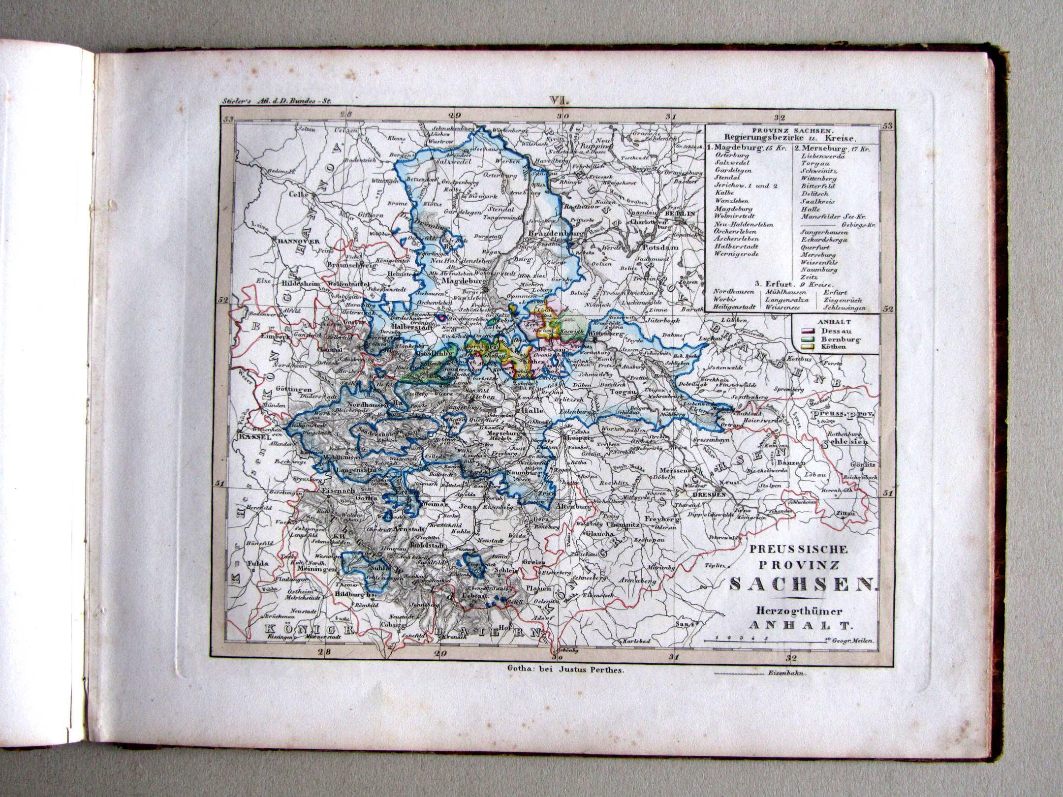 p kleiner atlas der deutschen bundes staaten 1e druk 1838. Black Bedroom Furniture Sets. Home Design Ideas