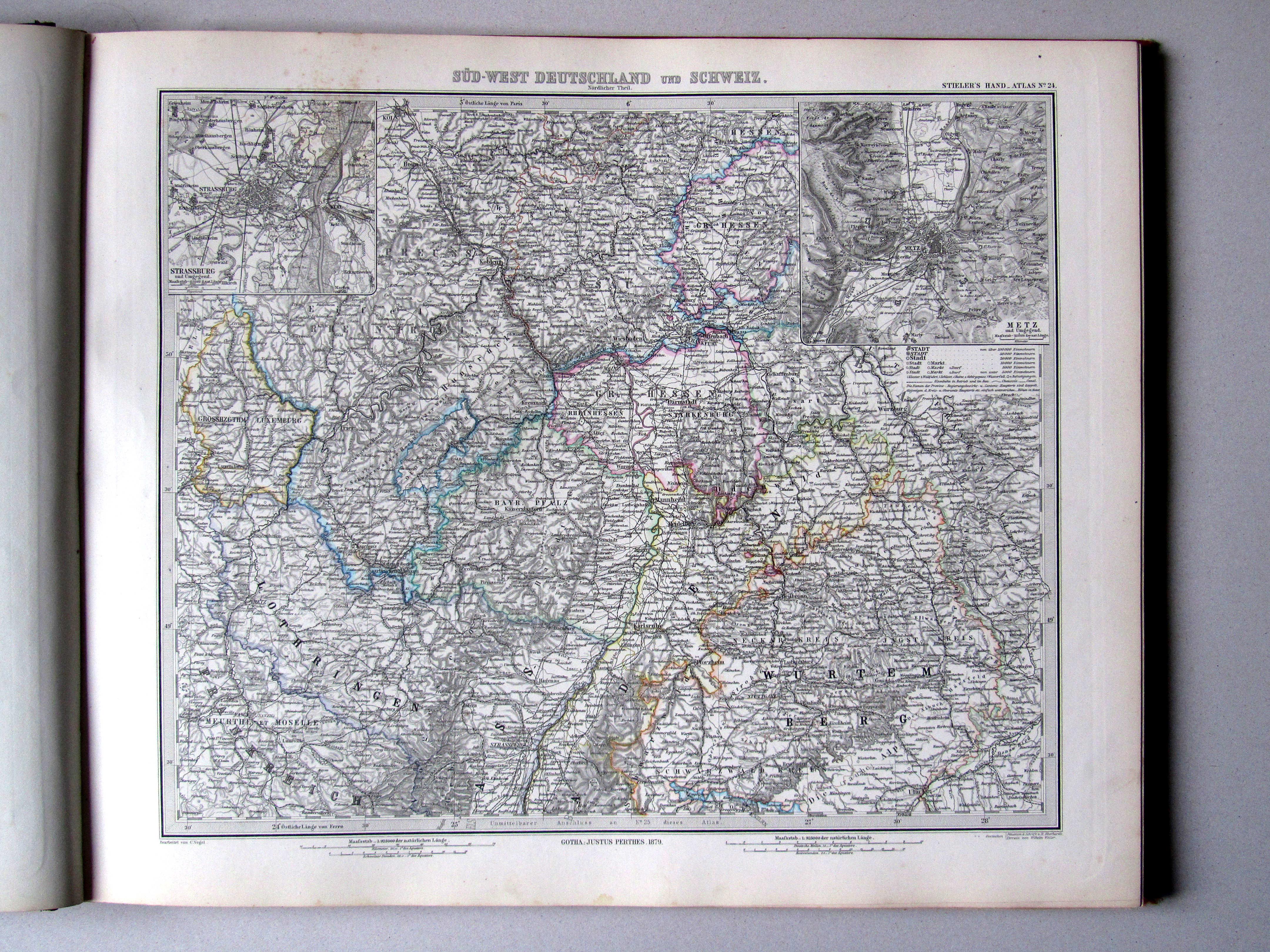 P stielers hand atlas 7e druk uitgave 1882 - Noordelijke deel ...