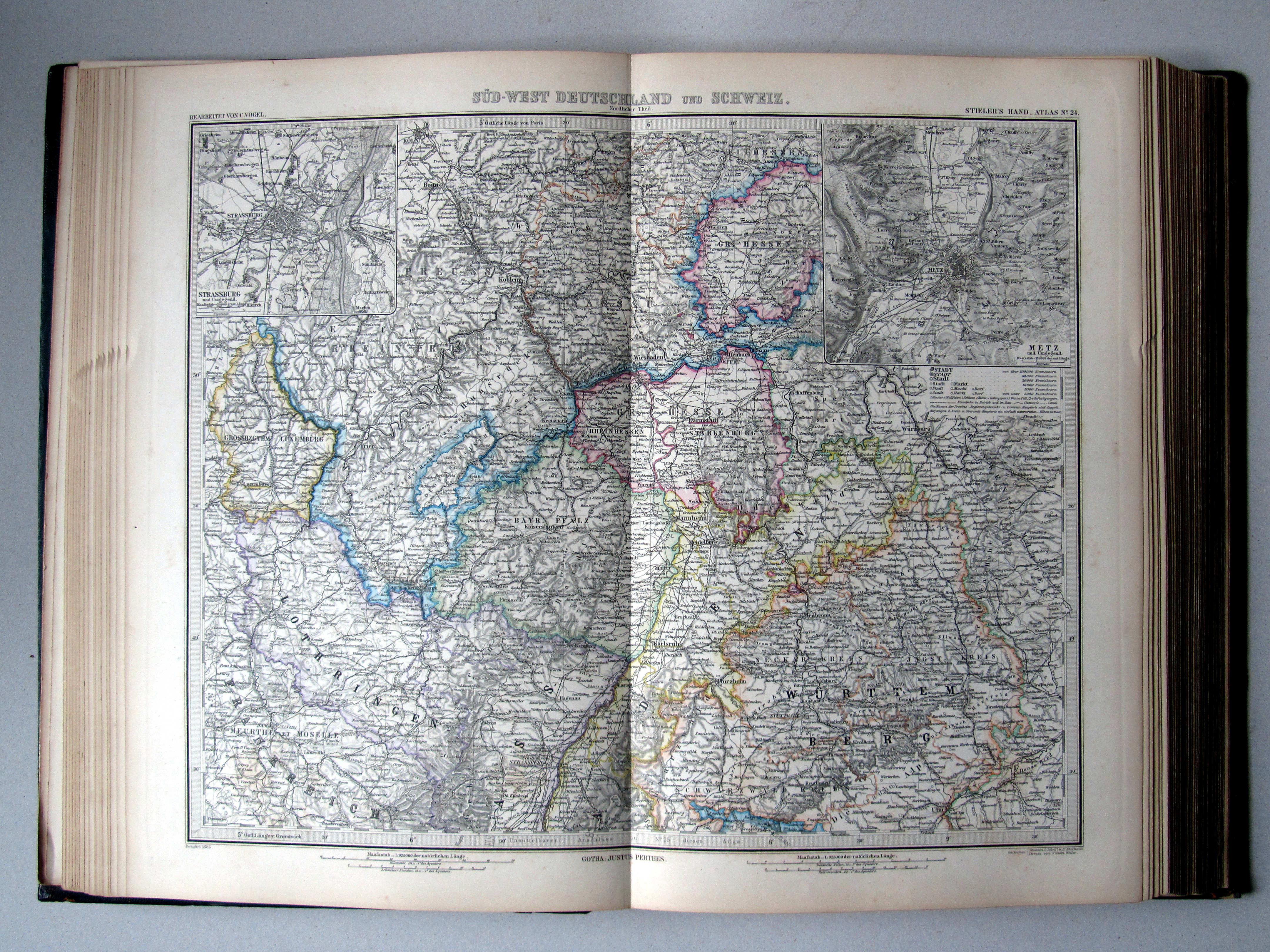P stielers hand atlas 7e druk uitgave 1885 - Noordelijke deel ...