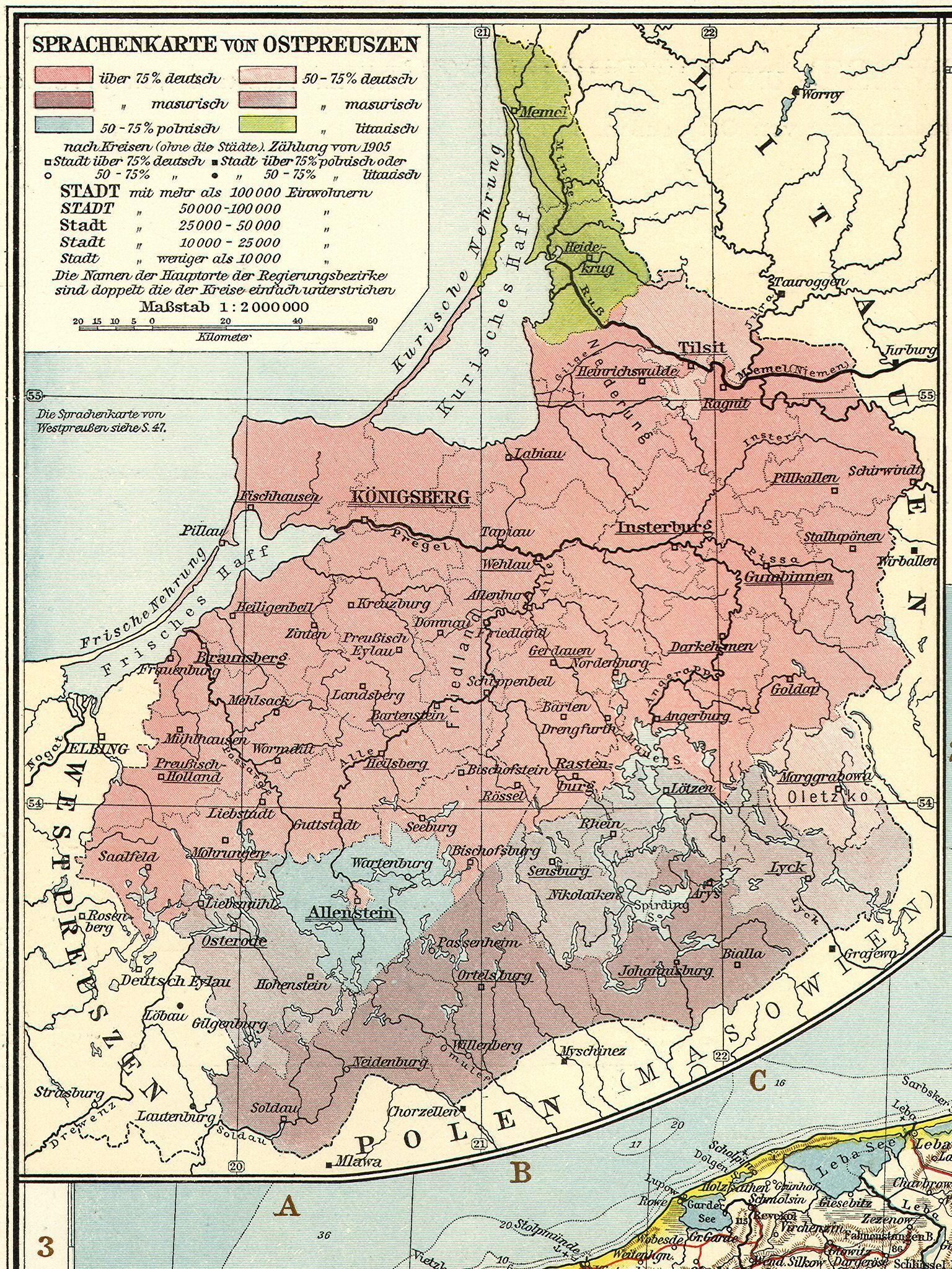 maps  province east prussia regierungsbezirk königsberg regierungsbezirkgumbinnen (carl flemming handatlas des preussischen staates . whkmla  history of east prussia