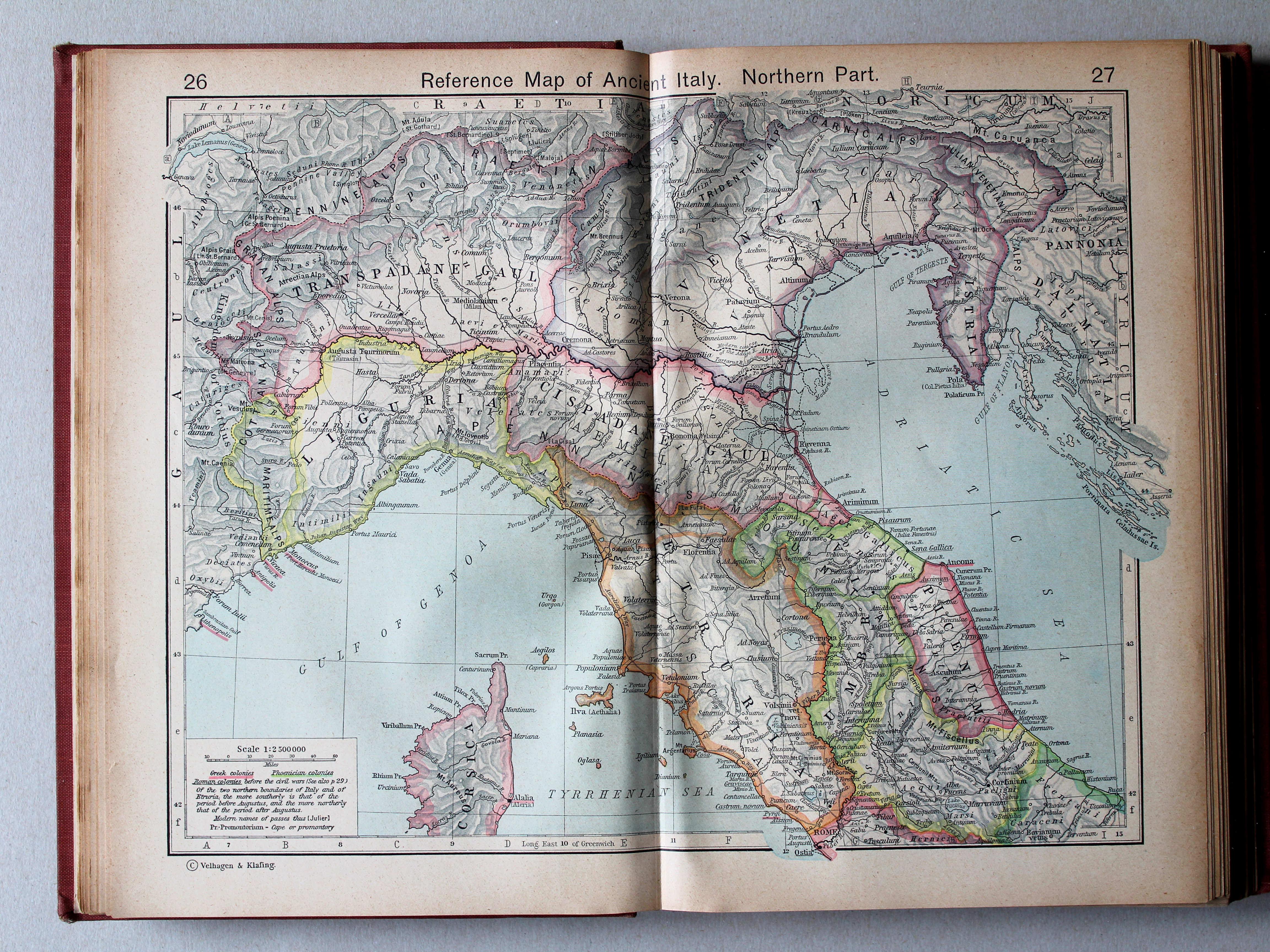 P william r shepherd historical atlas 6e druk 1927 - Noordelijke deel ...